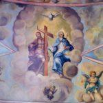 centralny fresk pierwszego przęsła nawy po konserwacji