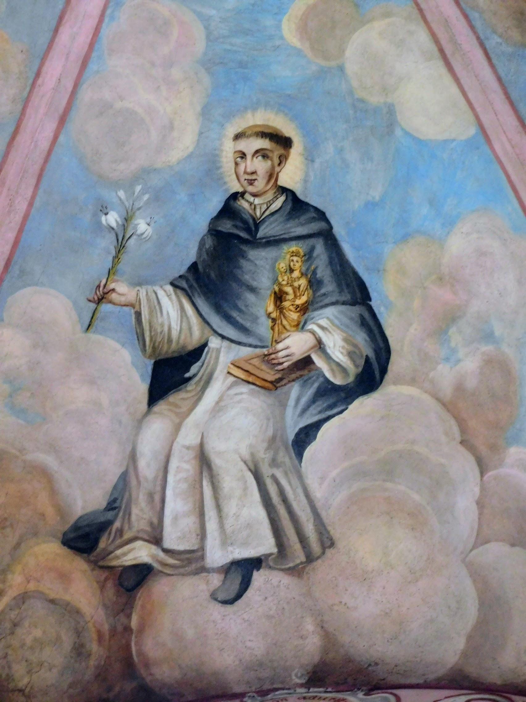 św. Jacek, fresk po konserwacji
