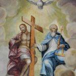 Trójca Święta - fresk po konserwacji