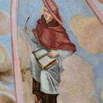 fresk św. Mateusza po konserwacji