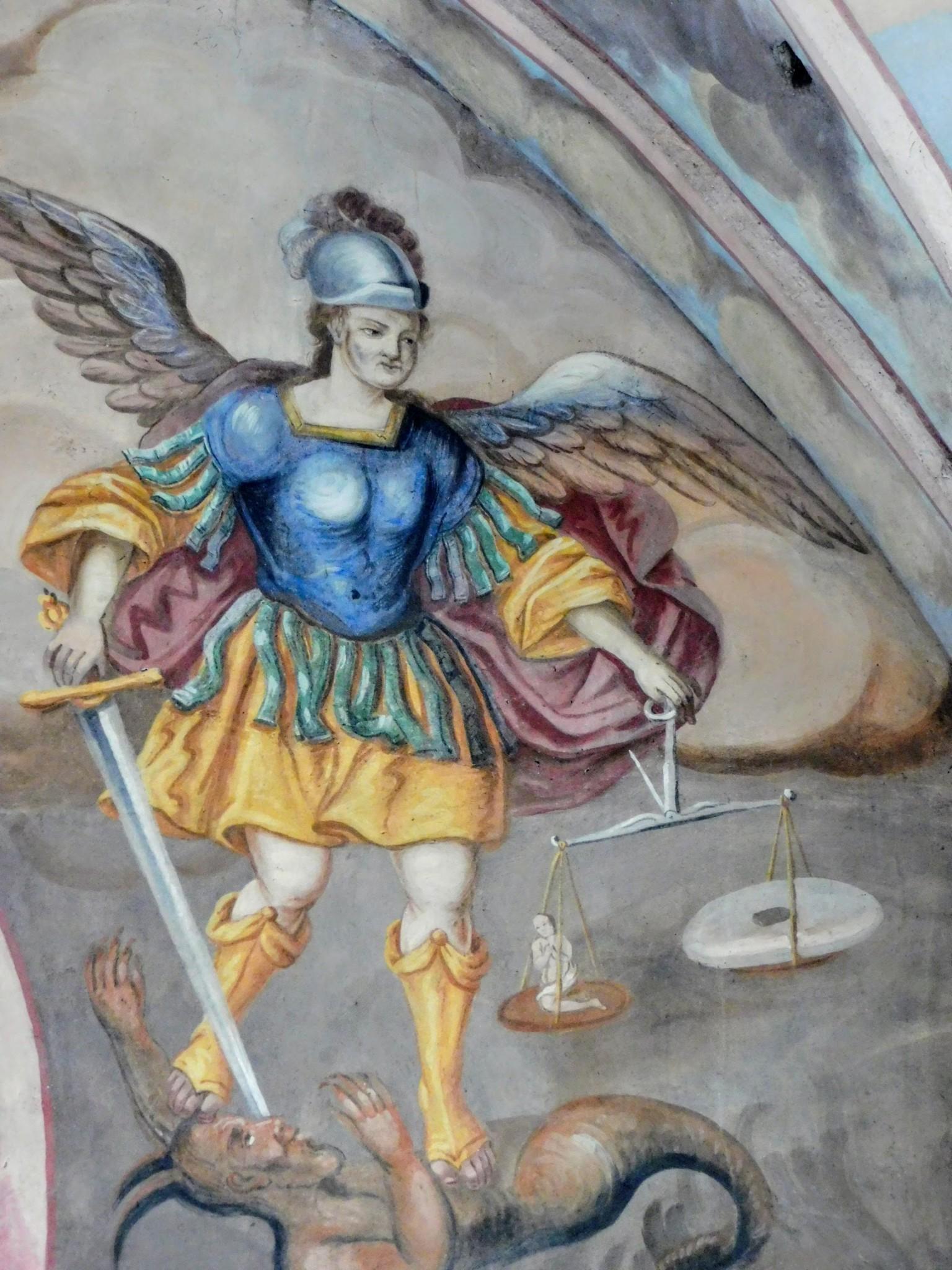 św. Michał Archanioł, fresk po konserwacji