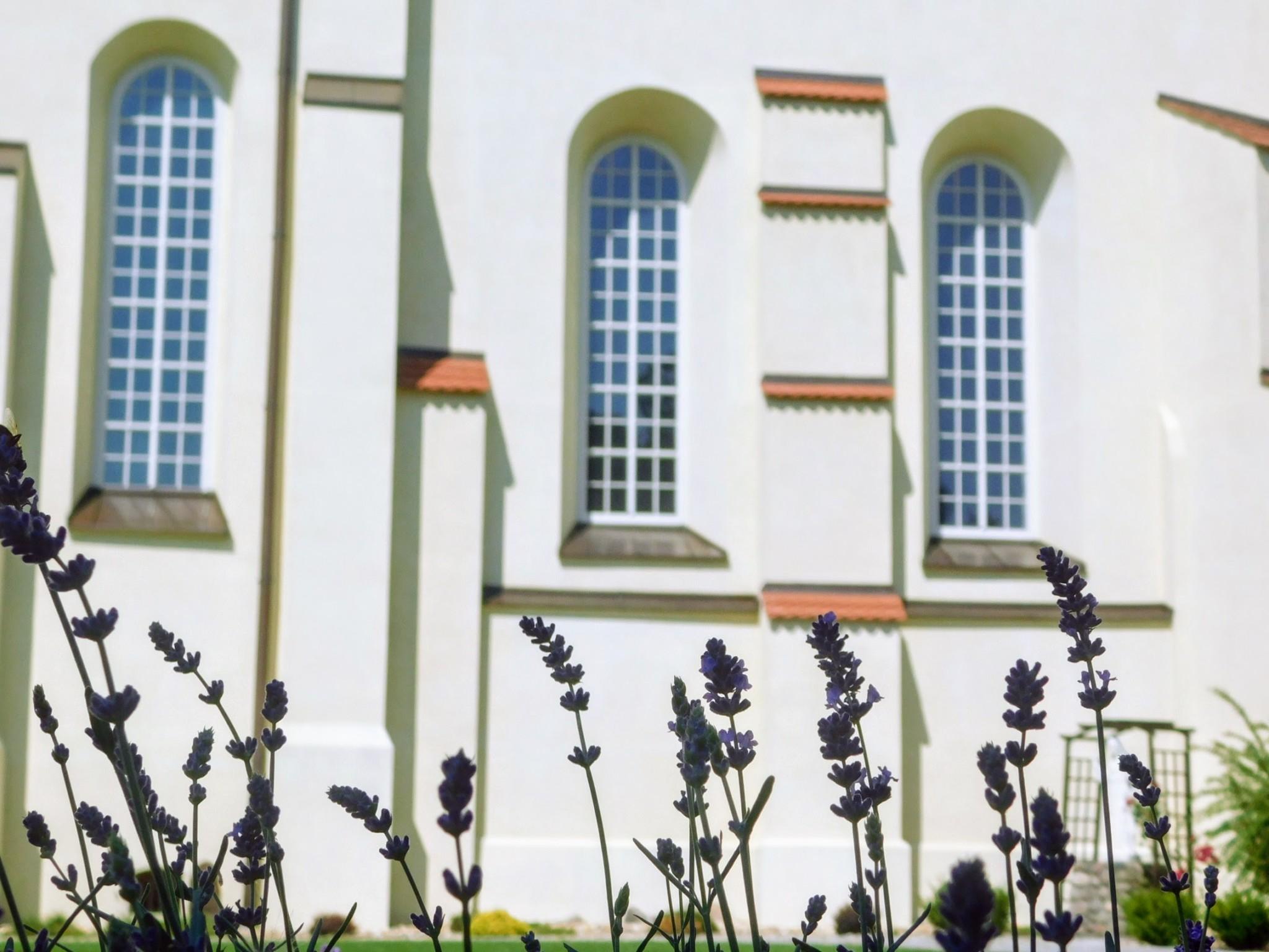 elewacja kościoła od strony dziedzińca