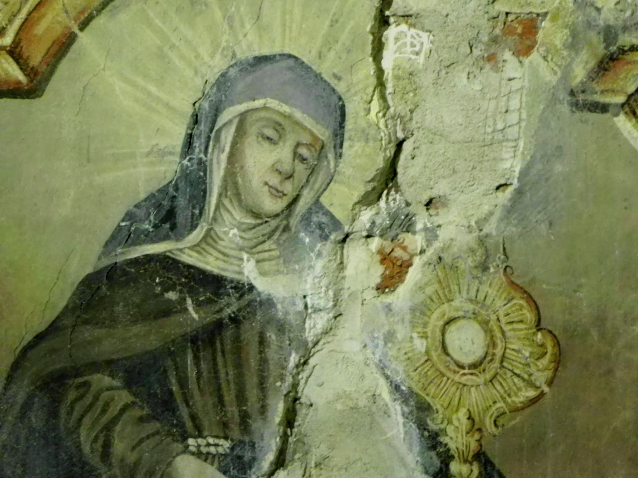 św. Klara - stan przed konserwacją