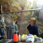 konserwacja fresków na sklepieniu kościoła nad tzw. chórkiem nowicjackim