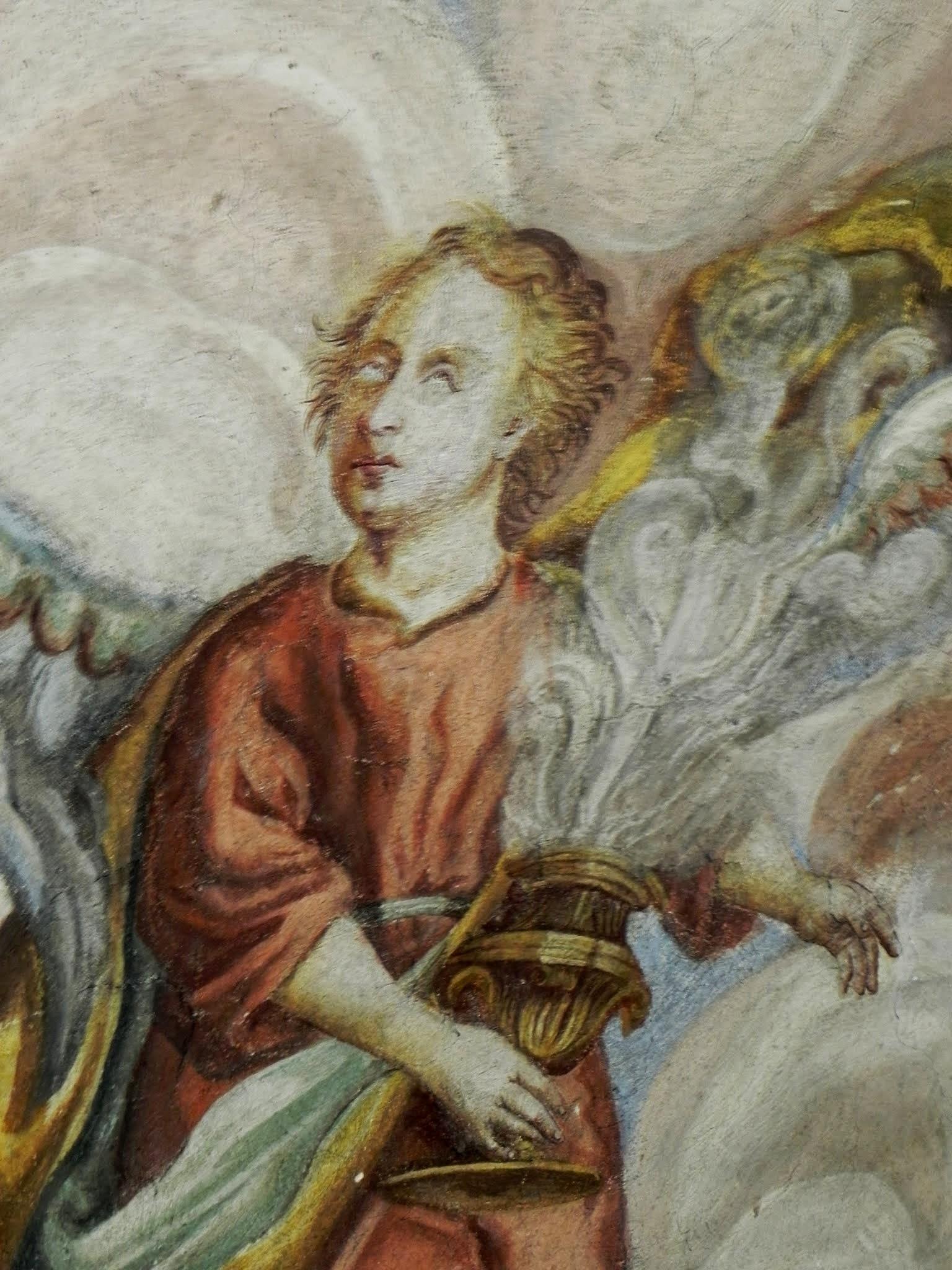 Freski z bliska - anioł