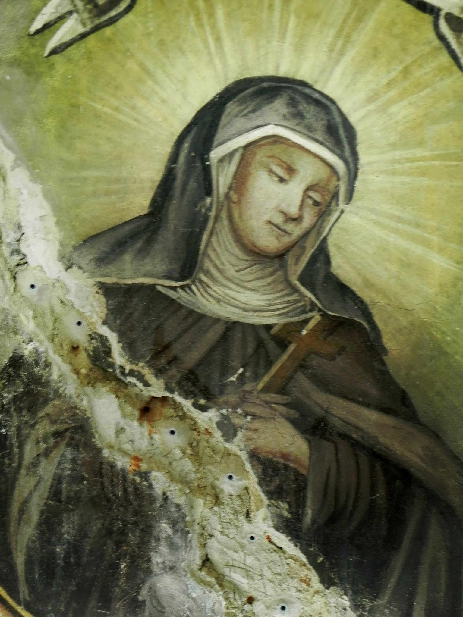 św. Agnieszka - stan przed konserwacją