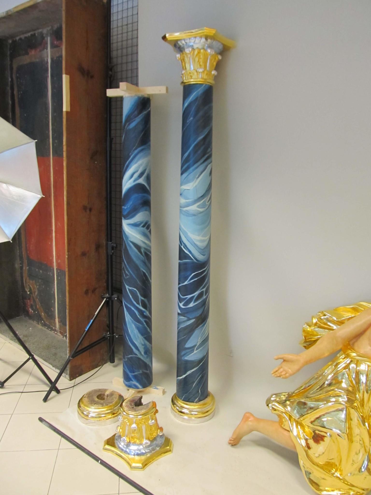 element ołtarza po przywróceniu oryginalnej kolorystyki
