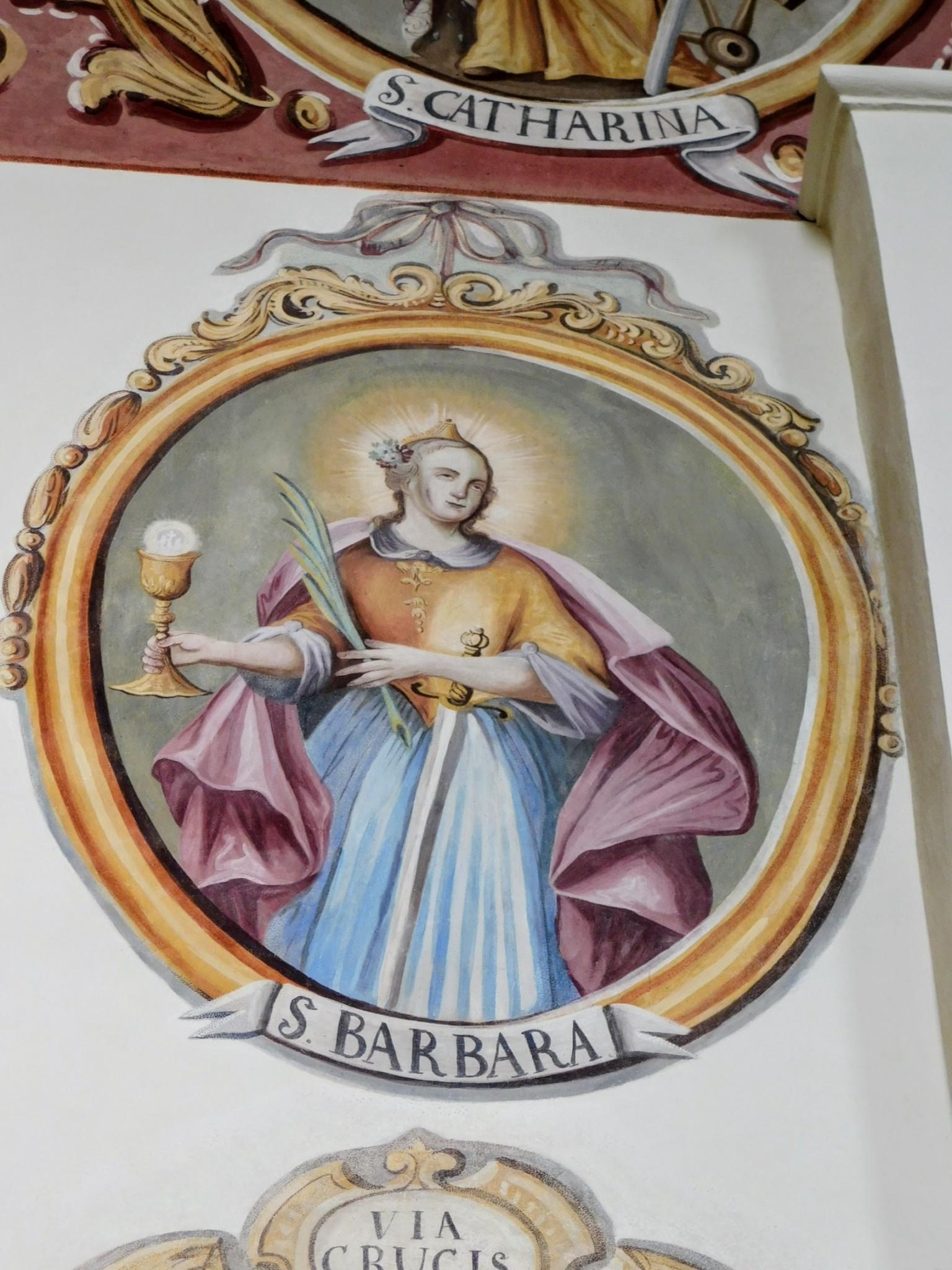 św. Barbara - po konserwacji