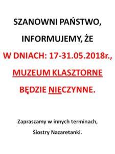 Inf. dot. Muzeum- 17.05.
